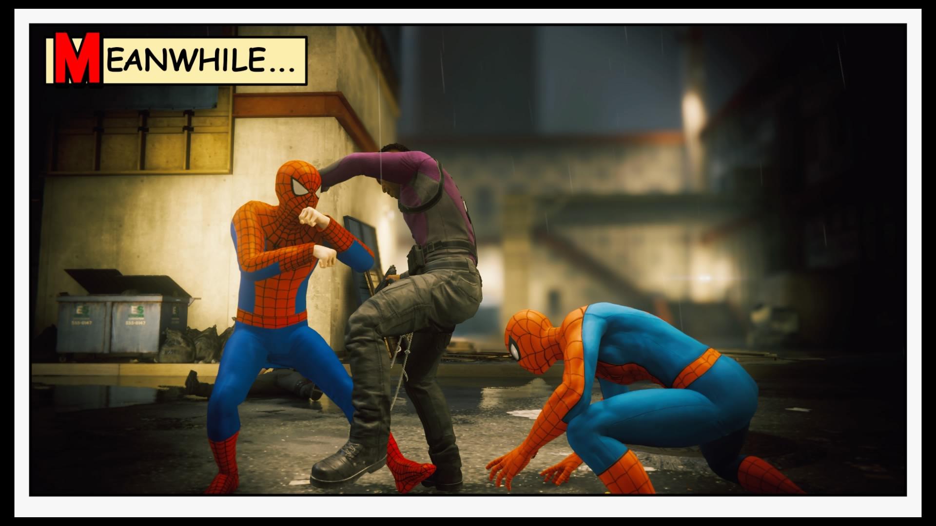 Dois homem aranhas